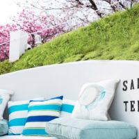新しく桜を眺めながら寛げるSakuraTerrace